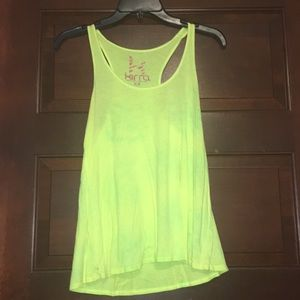 Lime green / bright yellow tank top